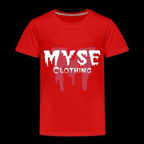 MYSE clothing logo - red & white - Toddler Premium T-Shirt