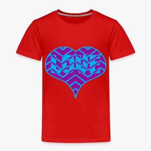 CHEVRON LOVE HEART - Toddler Premium T-Shirt