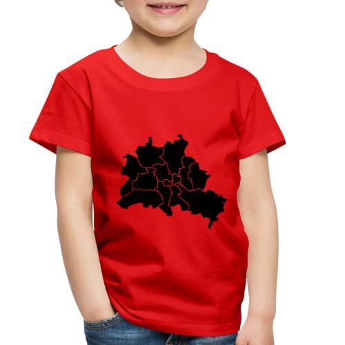 Berlin map, districts - Toddler Premium T-Shirt