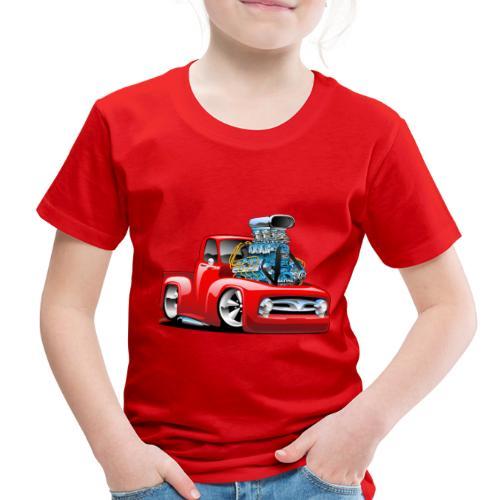 American Classic Hot Rod Pickup Truck Cartoon - Toddler Premium T-Shirt