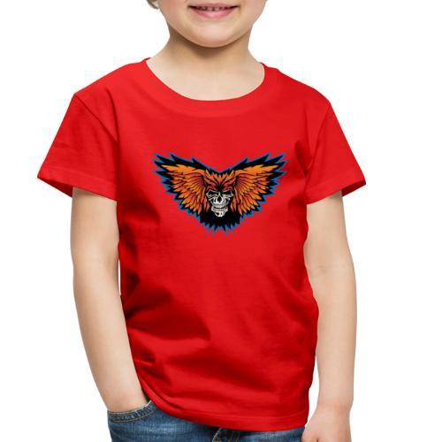 Winged Skull Illustration - Toddler Premium T-Shirt