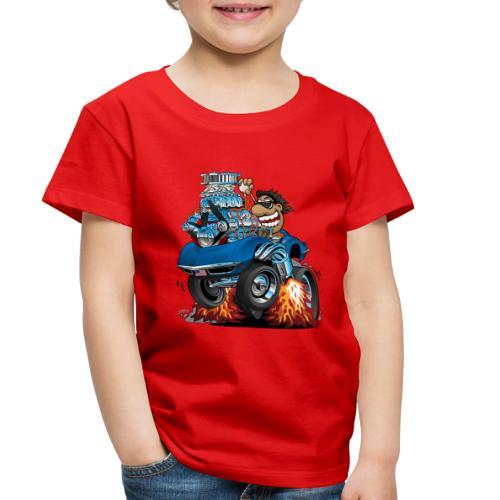 Classic '69 American Sports Car Cartoon - Toddler Premium T-Shirt