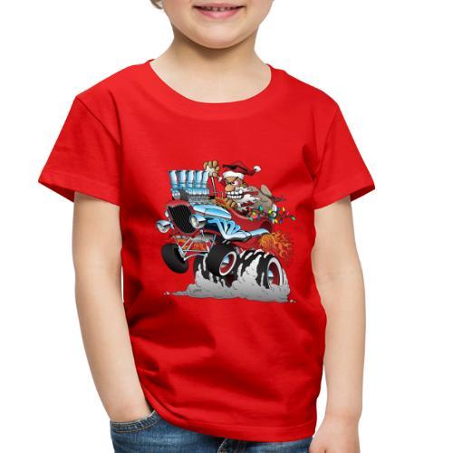 Hot Rod Santa Christmas Cartoon - Toddler Premium T-Shirt
