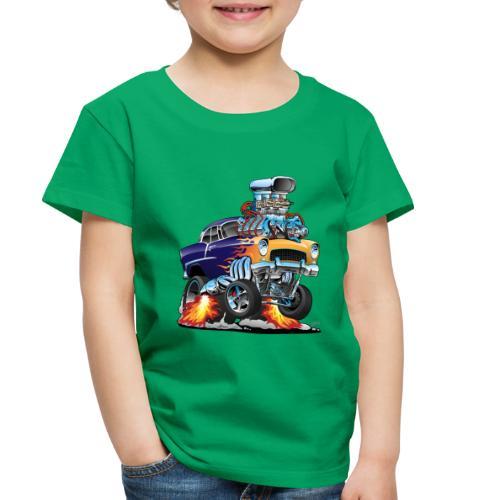 Classic Fifties Hot Rod Muscle Car Cartoon - Toddler Premium T-Shirt