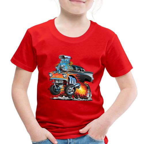 Classic hot rod 57 gasser dragster car cartoon - Toddler Premium T-Shirt