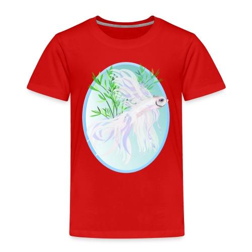 White Siamese Fighting Fish Oval - Toddler Premium T-Shirt
