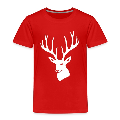 stag night deer buck antler hart cervine elk - Toddler Premium T-Shirt