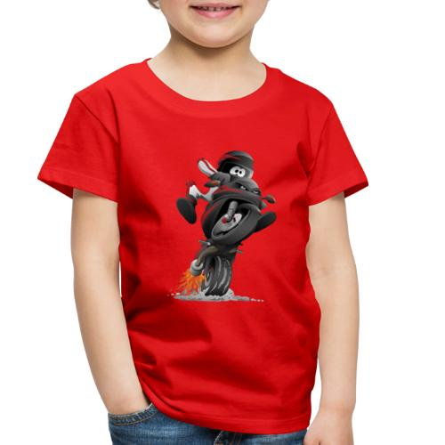 Sportbike motorcycle cartoon illustration - Toddler Premium T-Shirt