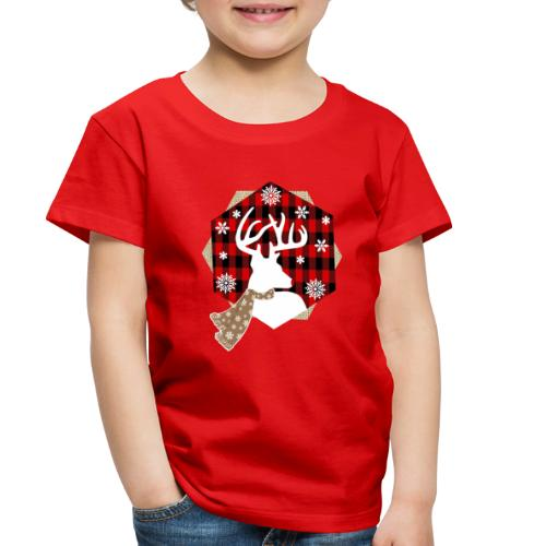 reindeer on plaid - Toddler Premium T-Shirt