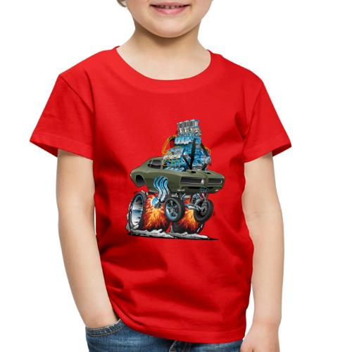 Classic American Muscle Car Hot Rod Cartoon - Toddler Premium T-Shirt