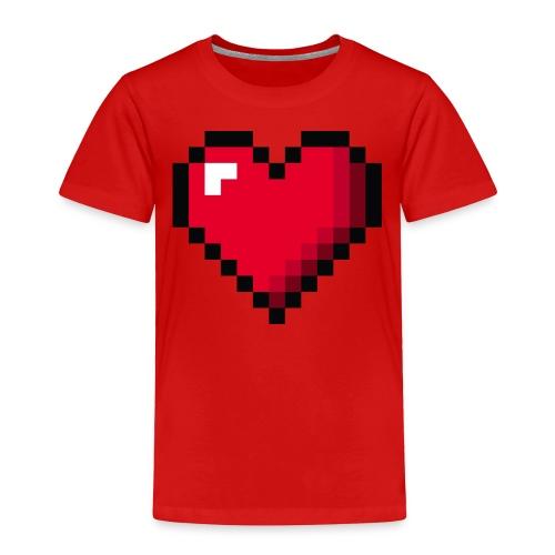 Pixel 8 bit Happy Valentine s Day Heart for Gamers - Toddler Premium T-Shirt