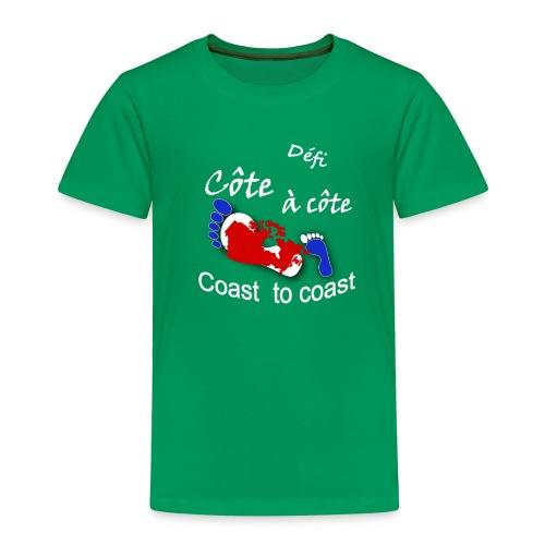 logo Côte à côte_blanc - Toddler Premium T-Shirt