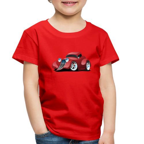 Red Hot Rod Restomod Custom Coupe Cartoon - Toddler Premium T-Shirt