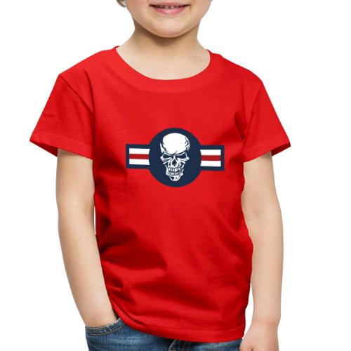 Military aircraft roundel emblem with skull - Toddler Premium T-Shirt
