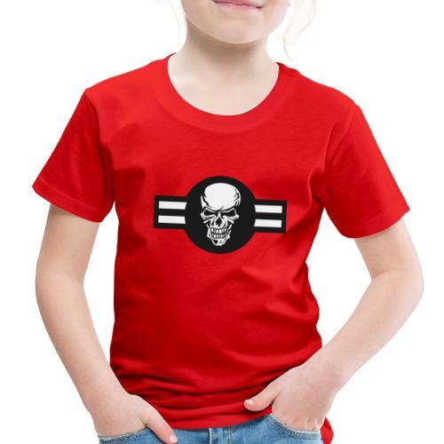 Military aircraft roundel emblem with skull - Toddler Premium T-Shirt