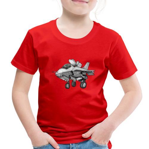 F-35B Lighting II Joint Strike Fighter Cartoon - Toddler Premium T-Shirt
