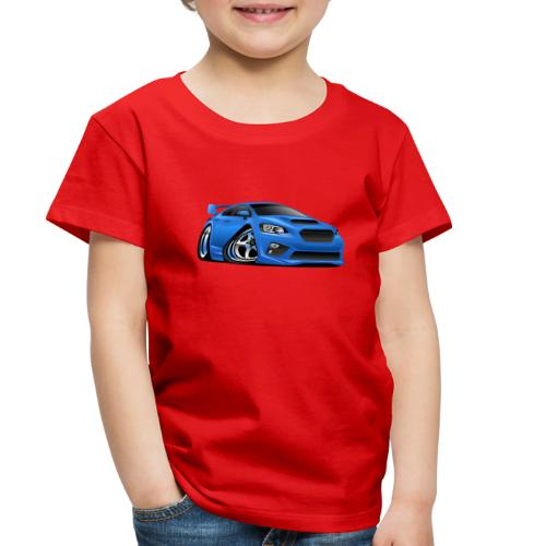 Modern Import Sports Car Cartoon Illustration - Toddler Premium T-Shirt