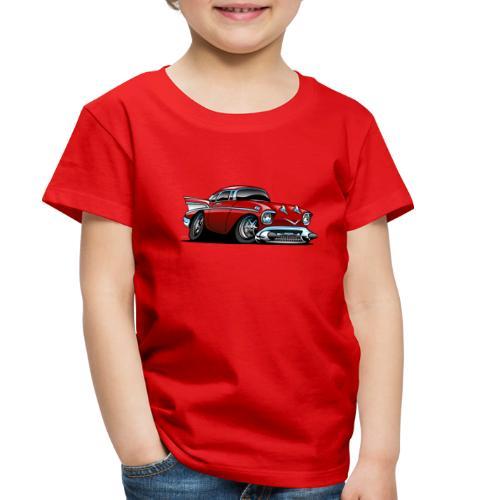 Classic American 57 Hot Rod Cartoon - Toddler Premium T-Shirt