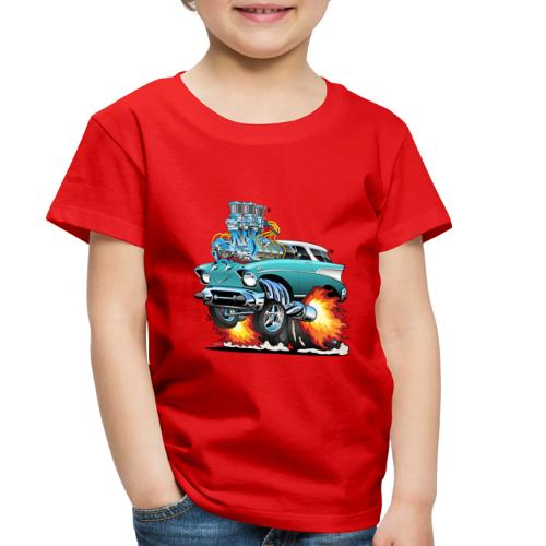 Classic Fifties Hot Rod Muscle Car Cartoon - Toddler Premium T-Shirt