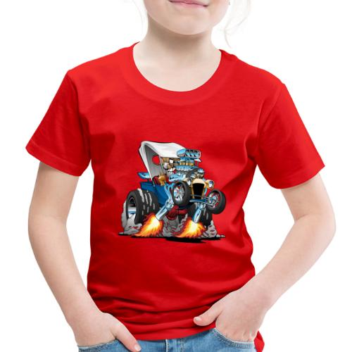 Custom T-bucket Roadster Hotrod Cartoon - Toddler Premium T-Shirt