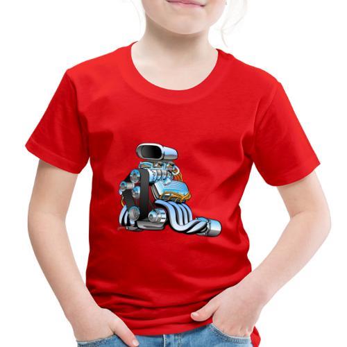 Hot rod race car engine cartoon - Toddler Premium T-Shirt