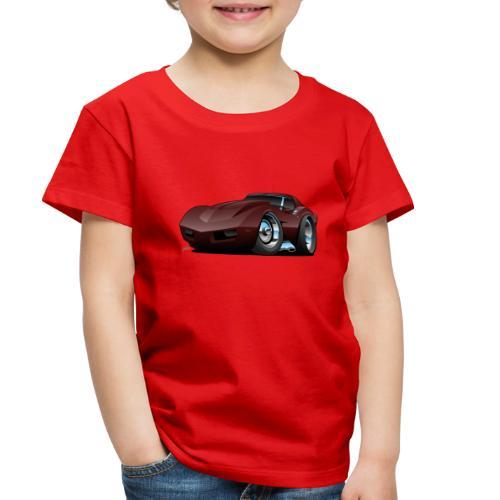 Classic Seventies American Sports Car Cartoon - Toddler Premium T-Shirt