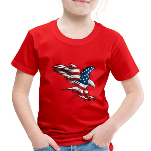 Patriotic American Eagle - Toddler Premium T-Shirt