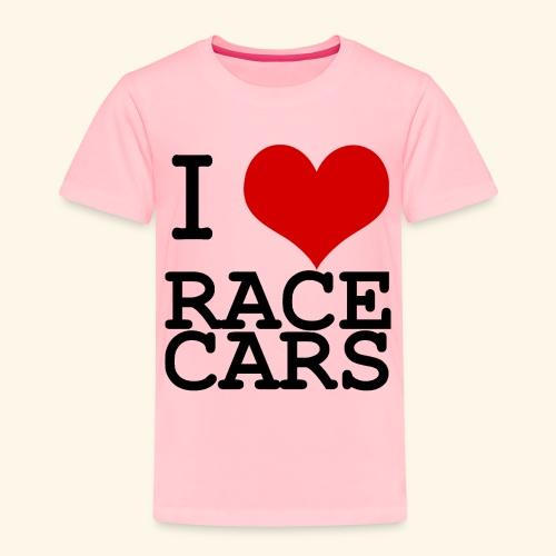 I Love Race Cars - Toddler Premium T-Shirt