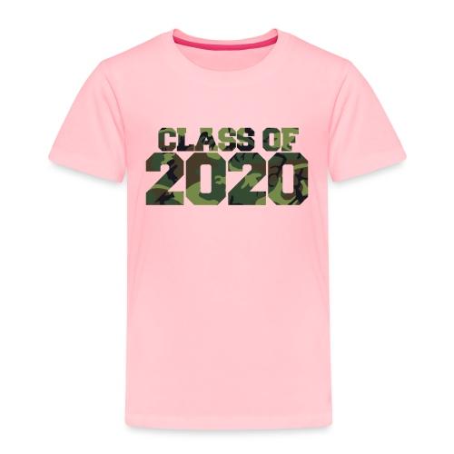 Class of 2020 Camo grad logo - Toddler Premium T-Shirt