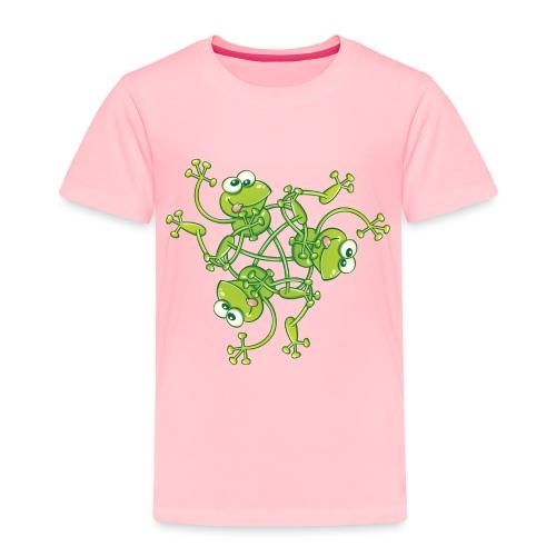 Frogs having fun when rotating in a pattern design - Toddler Premium T-Shirt