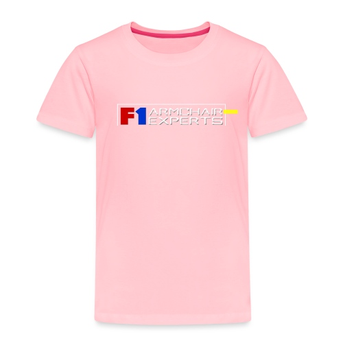 F1 Armchair Experts Official Logo WHT - Toddler Premium T-Shirt