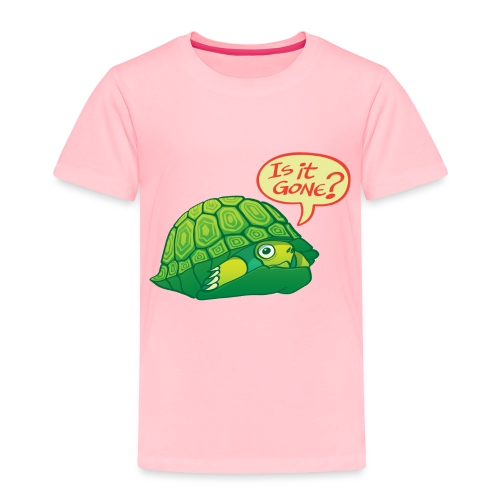 Turtle asking if it's good time to go out of shell - Toddler Premium T-Shirt