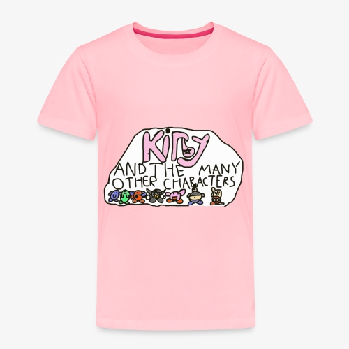 Kirby and the many other characters - Toddler Premium T-Shirt
