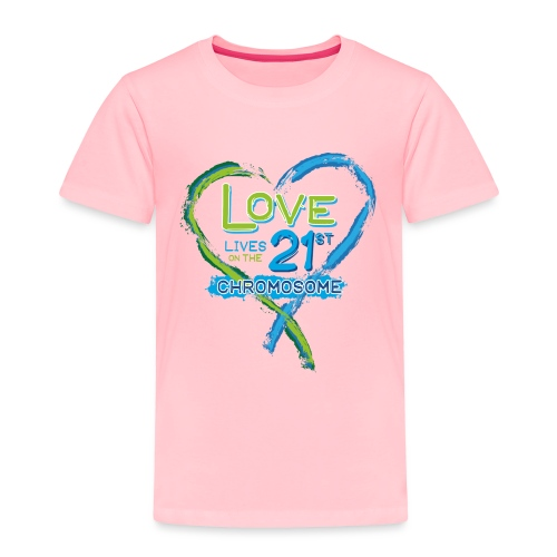Down Syndrome Love (Blue) - Toddler Premium T-Shirt