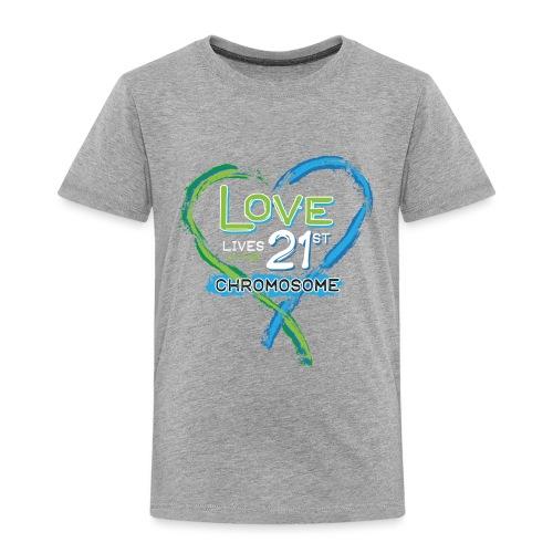 Down Syndrome Love (Blue/White) - Toddler Premium T-Shirt