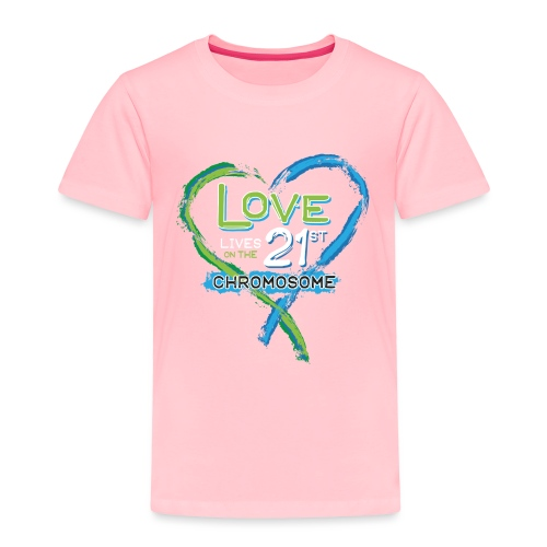 Down Syndrome Love (Blue/White) - Toddler Premium T-Shirt