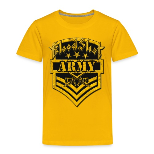 BloodShot ARMYLogo Gold /Black - Toddler Premium T-Shirt