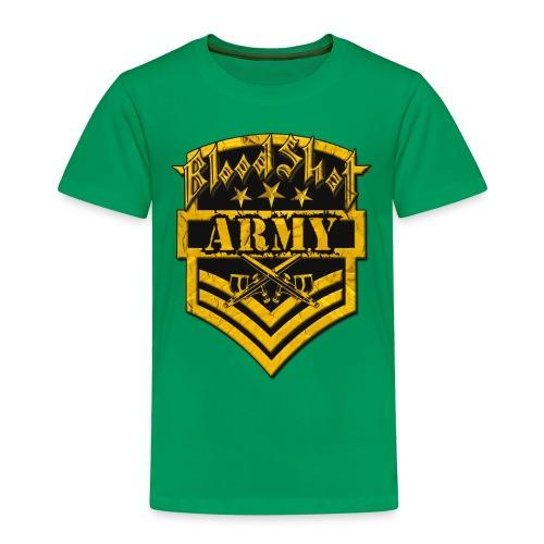 BloodShot ARMYLogo Gold /Black - Toddler Premium T-Shirt