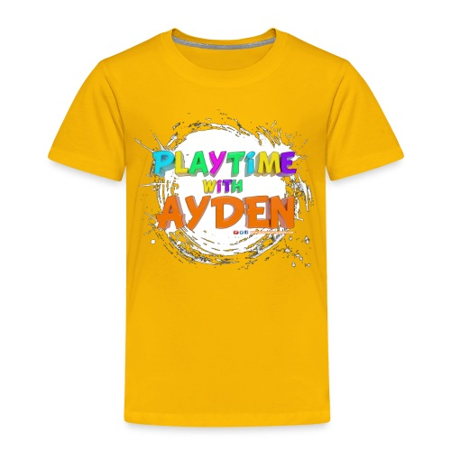Playtime with Ayden - 1st edition - Red T-shirt - Toddler Premium T-Shirt
