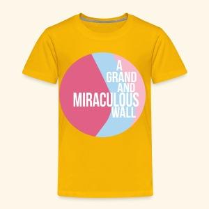 Bubblegum wall - Toddler Premium T-Shirt