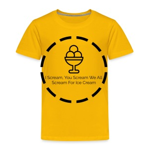 Ice Cream - Toddler Premium T-Shirt