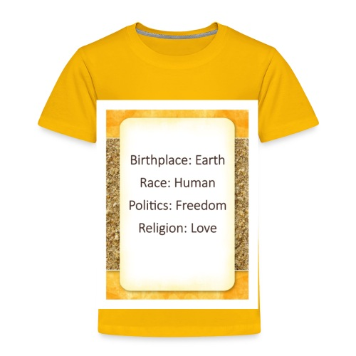 Earth Human Freedom Love - Toddler Premium T-Shirt