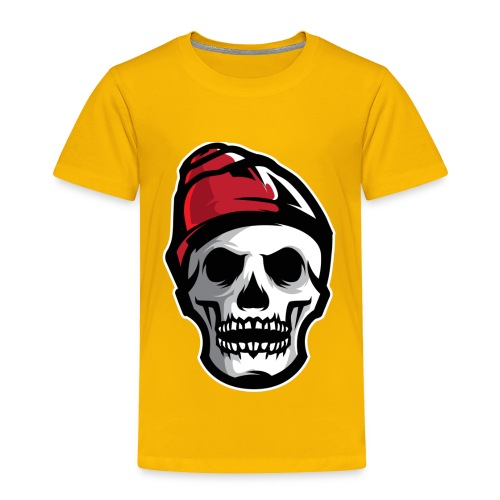 Custom Skull With Ice Cap Merch! - Toddler Premium T-Shirt