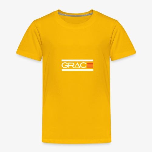 White Double line Grace - Toddler Premium T-Shirt