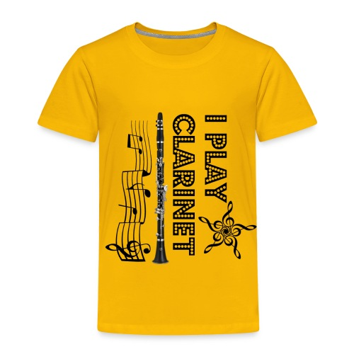 i play clarinet - Toddler Premium T-Shirt