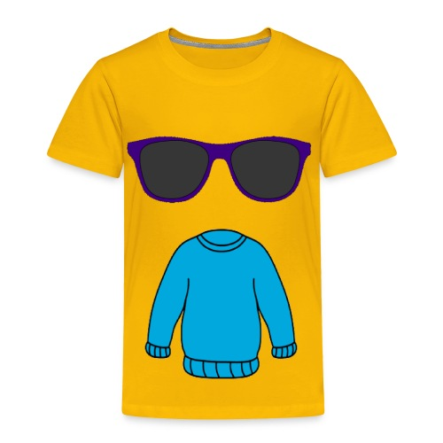 sweater glasses - Toddler Premium T-Shirt