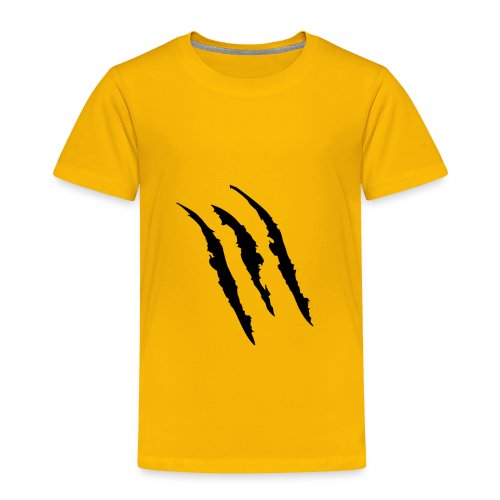 3 claw marks Muscle shirt - Toddler Premium T-Shirt