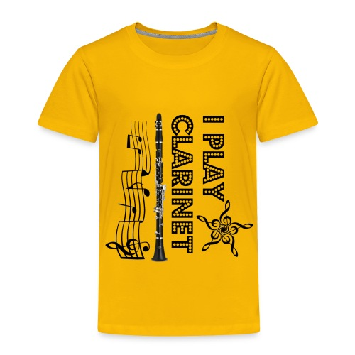 i play clarinet - Toddler Premium T-Shirt
