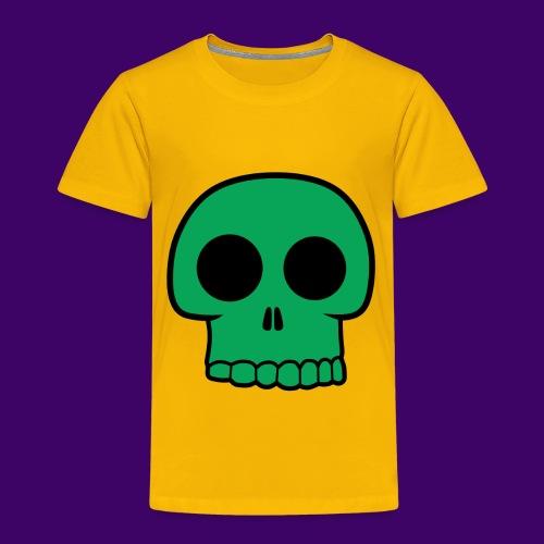 Green Skull - Toddler Premium T-Shirt