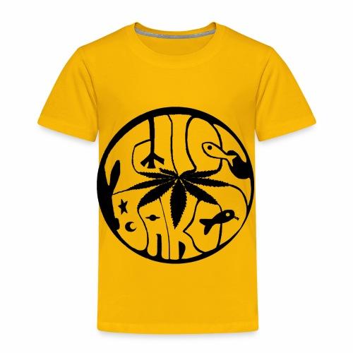 tWicEbakED logo, black circle - Toddler Premium T-Shirt
